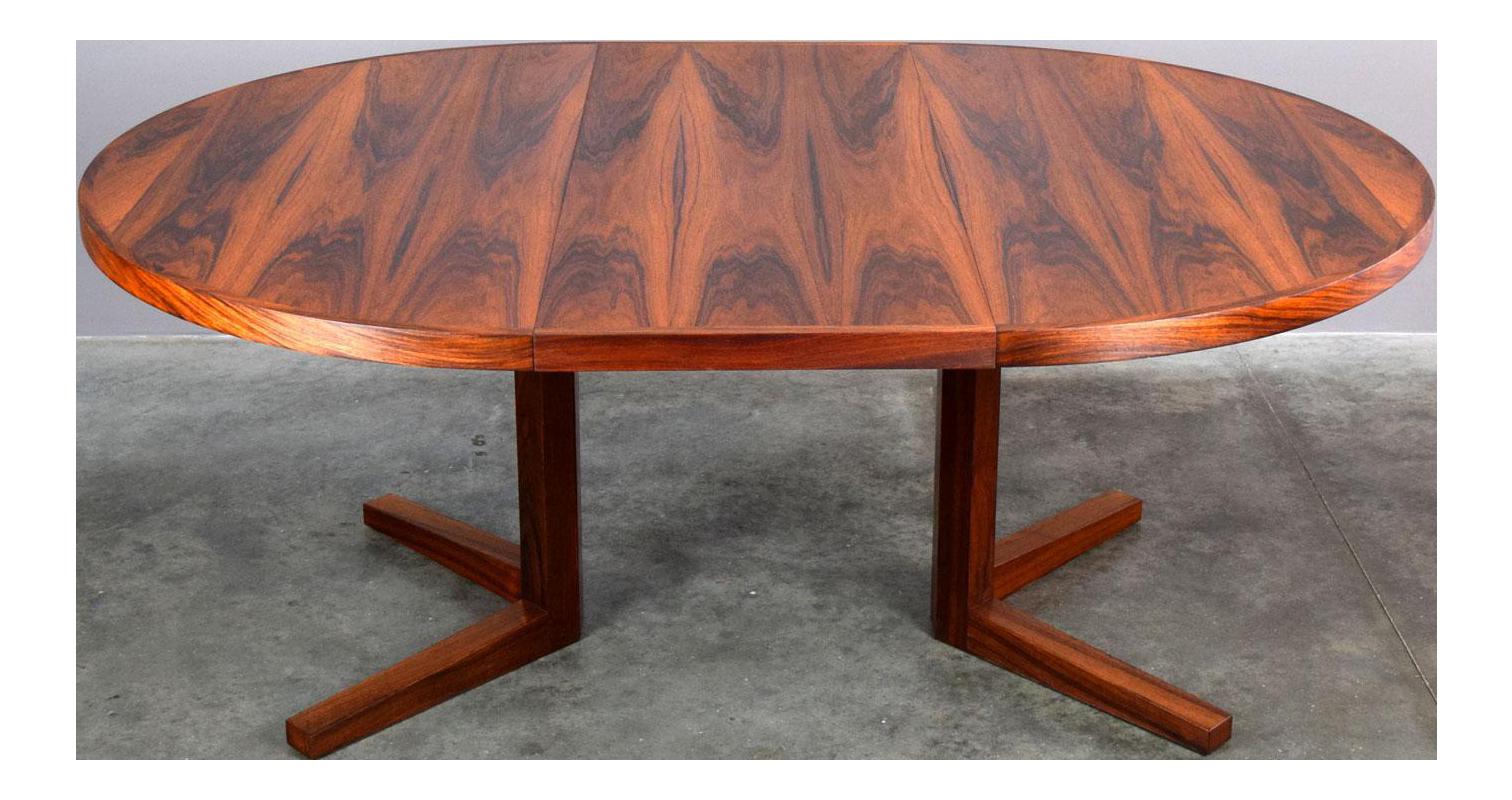 John Mortensen For Heltborg Møbler Brazilian Rosewood Dining Table