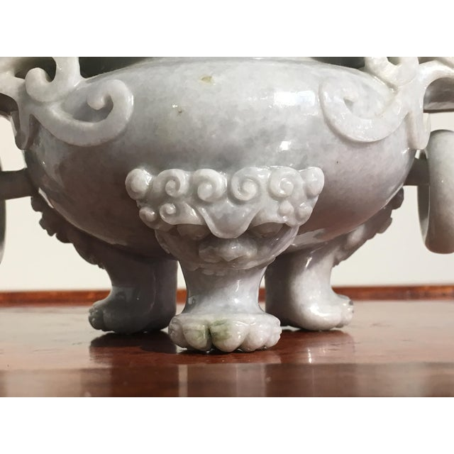 Chinese Gray Nephrite Jade Censer, mid 20th century - Image 7 of 9