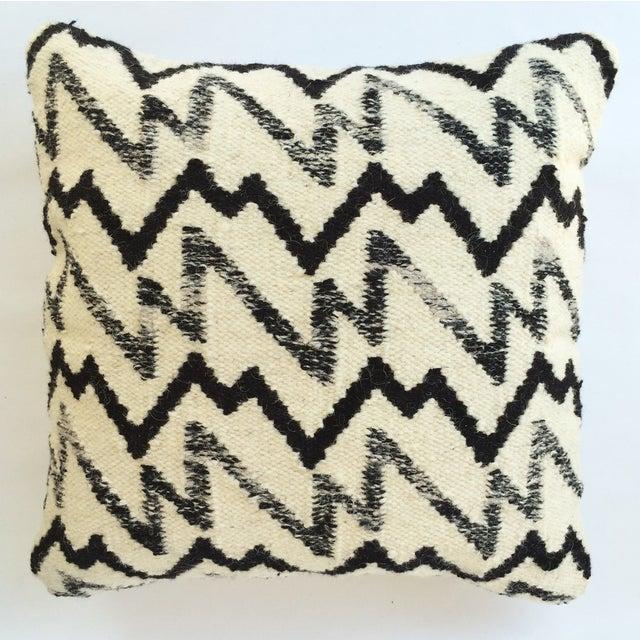 Black & Ivory Wool Pillow - Image 2 of 3