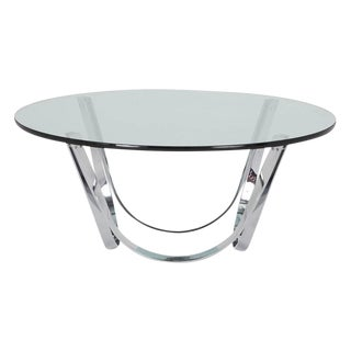 Tri-Mark Chrome & Glass Coffee Table