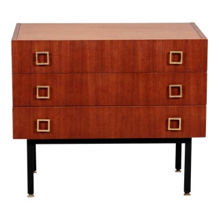 French Mid-Century Three-Drawer Mahogany Chest