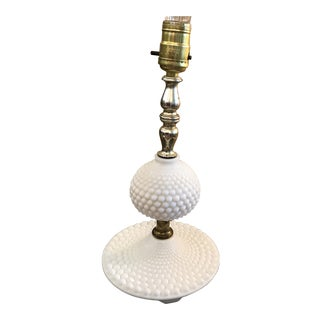 Hobnail Milk Glass Table Lamp
