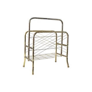Art Deco Brass Magazine Rack