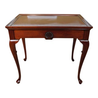 Hickory Chair Co Mahogany James River Collection Queen Anne Style Tea Table