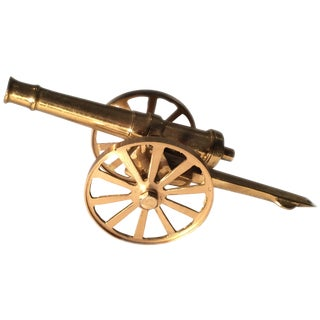 Decorative Brass Cannon Figurine