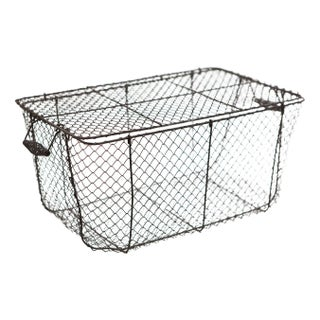 Woven Wire Basket with Lid