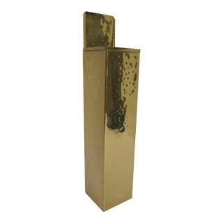 Hammered Brass Fireplace Matchstick Holder