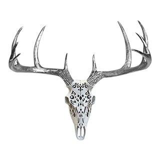 Carved Decorative Deer Skull