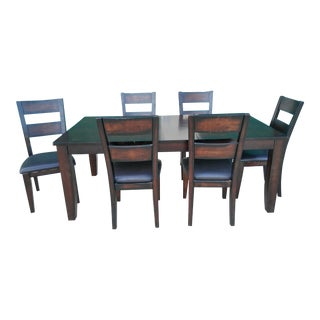 7-Piece Star Furniture Espresso Colour Dining Room Set