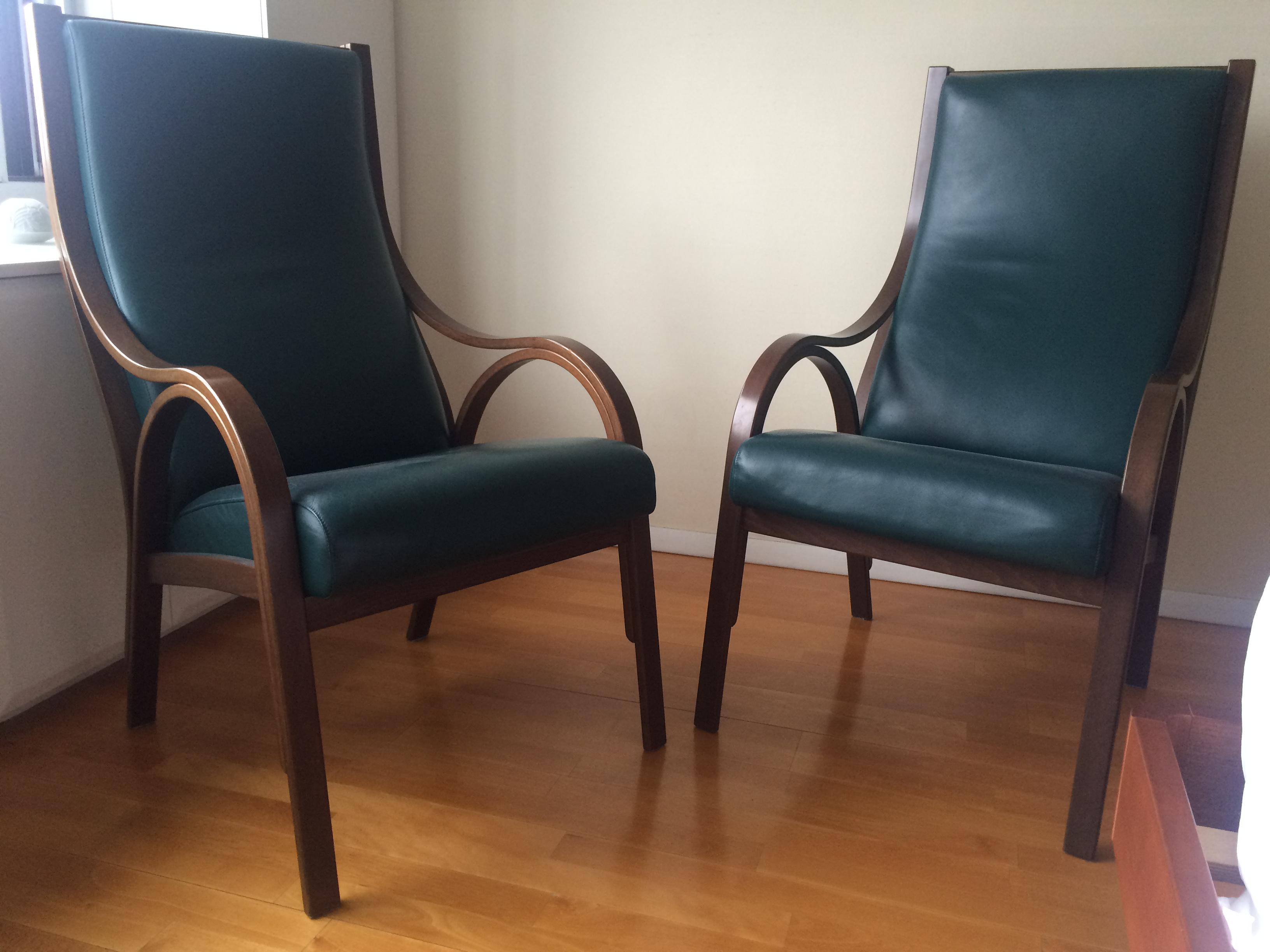 Poltrona Frau Cavour Armchairs   A Pair   Image 2 Of 6