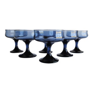 Vintage Blue Coupes, Set of 6