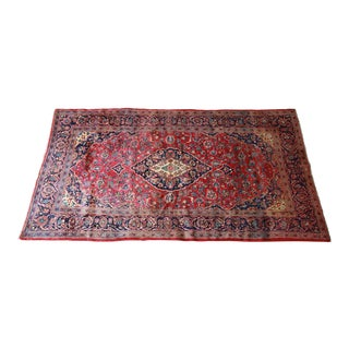 Vintage Red and Blue Hand-Woven Persian Rug - Made in Iran