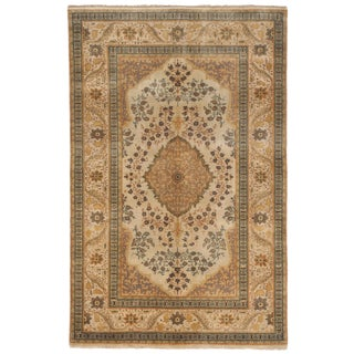 "Hand Knotted Indian Rug - 3'4"" x 5'"