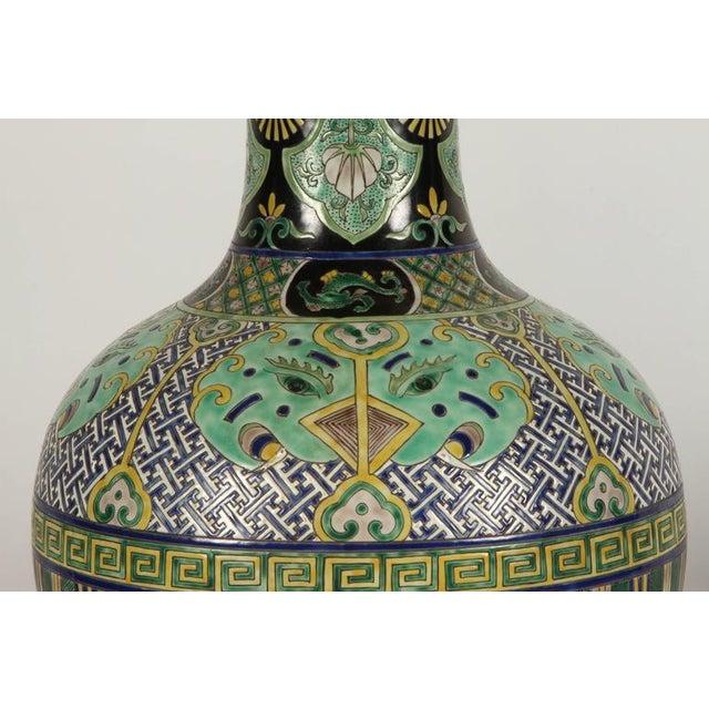 Pair of Famile Verte Art Deco Vases - Image 5 of 10