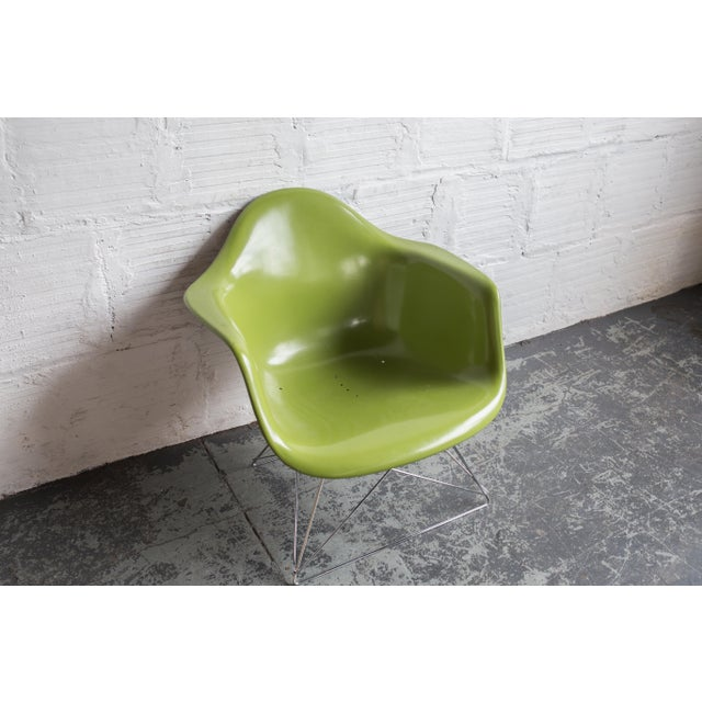 Vintage Green Eames Armchair on Modernica Base - Image 5 of 5