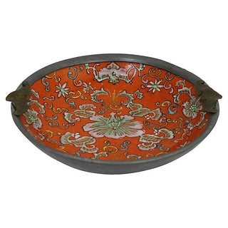 Antique Chinese Cased Porcelain Dish