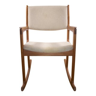 Benny Linden Mid-Century Teak Rocking Chair