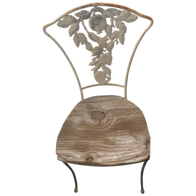 Image of Fruit Decor Vintage Wrought Iron Chair