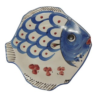 Vintage Ceramic Fish Wall Plate