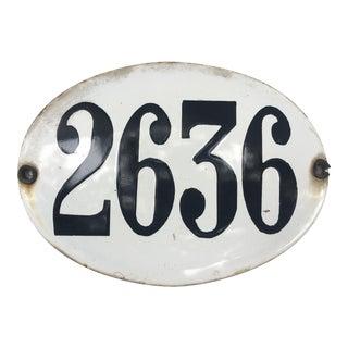 Antique Argentinan Enamel Street Number Sign