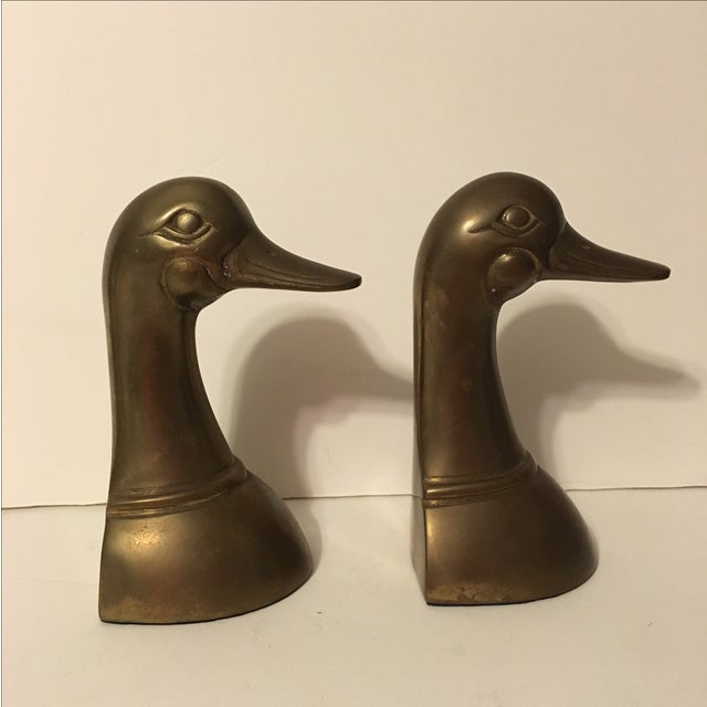 Vintage Brass Mallard Bookends - A Pair - Image 4 of 6
