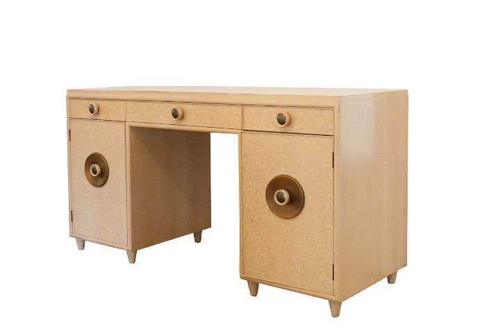 paul frankl midcentury modern pedestal desk