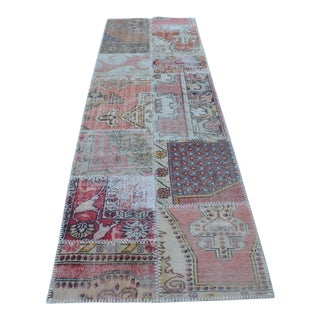 Vintage Decorative Handmade Runner Rug - 2′11″ × 9′11″