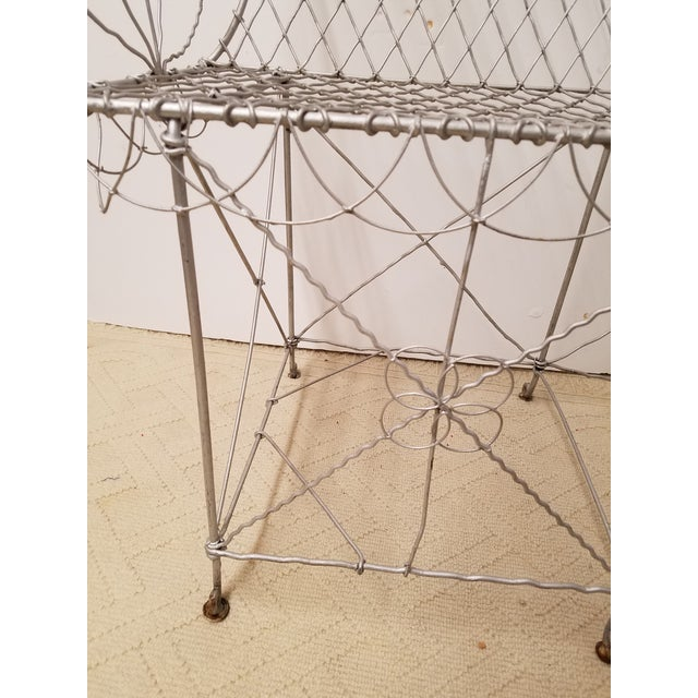 19th Century French Wire Garden Settee or Bench - Image 5 of 5