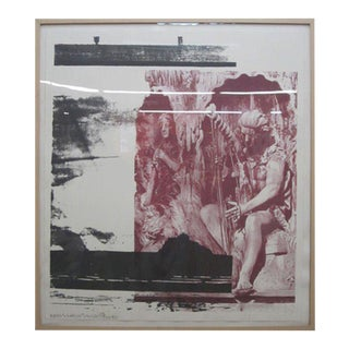 """Robert Rauschenberg """"Dallas Cares"""" Lithograph Limited Edition"""