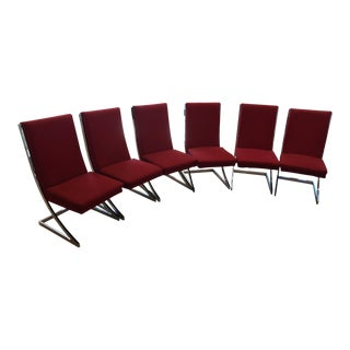 Milo Baughman Chrome 'Z-Dining Chairs' for Design Institute of America - Set of 6