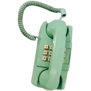 Light Teal 1975 GTE Starlite Push Button Phone