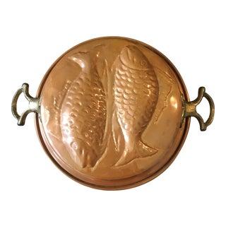 Vintage Copper Pisces Mold