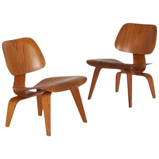 Charles and Ray Eames Lcw Lounge Chairs - A Pair