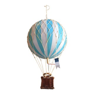 Hot Air Balloon-Teal- Medium