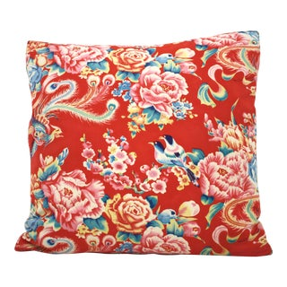 Chinese Bird Floral Pillow