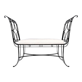 Hollywood Regency Iron Bench