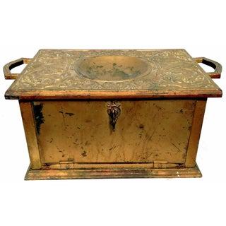 Antique Brass Coal Scuttle Box