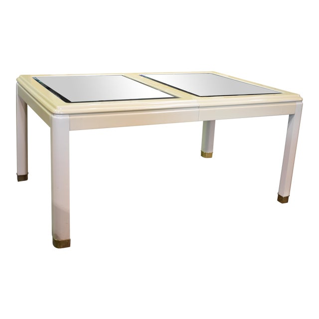 Vintage Milano by Stanley Mirror Top Dining Room Table - Image 1 of 11