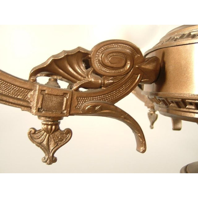 Renaissance Spelter Gas Fixture (4-Light) - Image 6 of 8