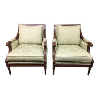 Ethan Allen Fairfax Arm Chairs - A Pair