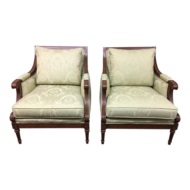 Ethan Allen Fairfax Arm Chairs - A Pair - Image 1 of 11