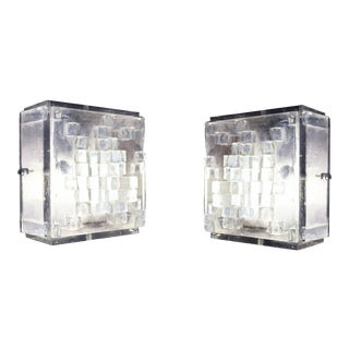 Poliarte Raw Crystal Cubic Flush Fixture