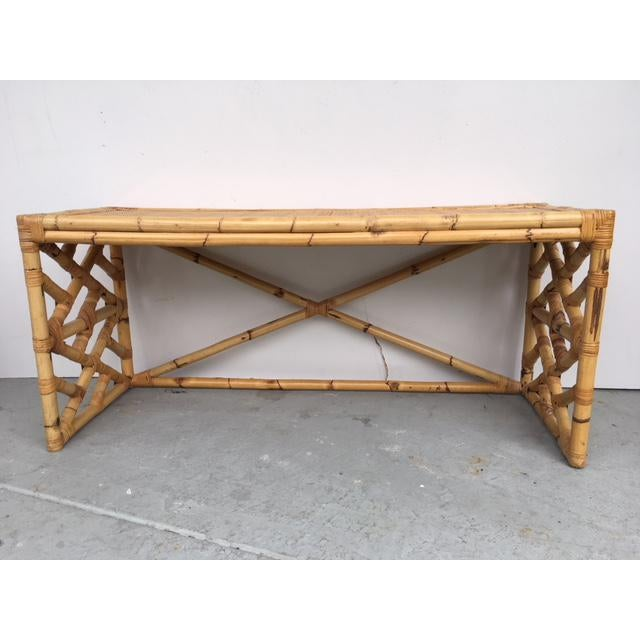 Tropical Chic Bamboo & Rattan Console - Image 2 of 8