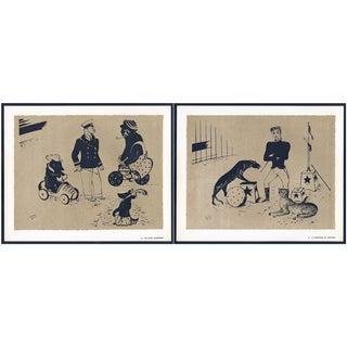 1944 Lithographs - Circus: # 44 & 47 - A Pair
