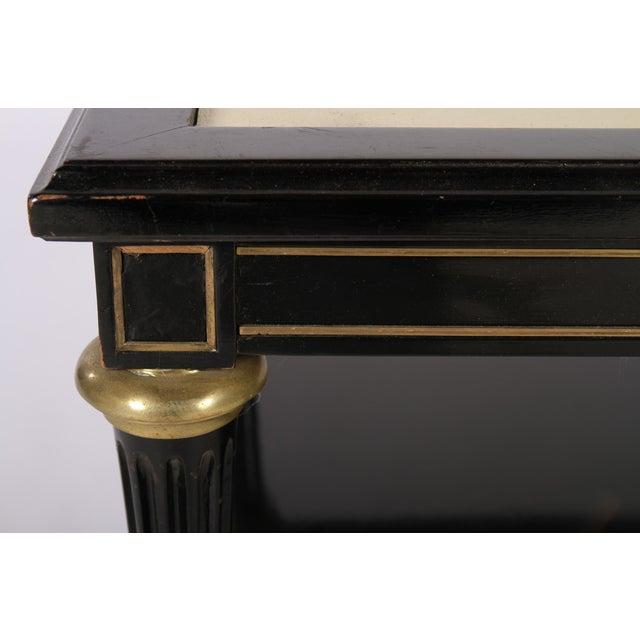 Directoire Style Ebonized Coffee Table - Image 5 of 6