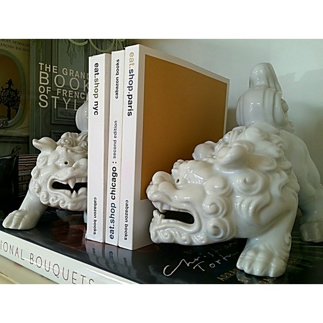 Mid-Century Foo Dogs, Porcelain, Hollywood Regency - Image 3 of 10