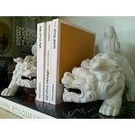Image of Mid-Century Foo Dogs, Porcelain, Hollywood Regency