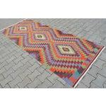 """Image of Handmade Turkish Kilim Runner - 3'8"""" X 9'8"""""""