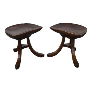 Sculptural Pair of 3 Leg Stool after Adolf Loos - b