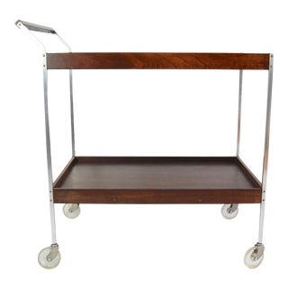 Salton Mid-Century Hot Plate Serving Cart